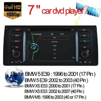 "7"" Digital Touch Screen car DVD player for bmw E39/E53/X5/M5 DVD GPS navi With Bluetooth RDS Stereo Radio Factory price"