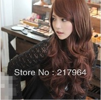 New Style Womens Girls Sexy Long Fashion Curly Full Wavy Hair Wig 3 Colors Free shipping