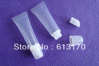 12ml lip gloss tube cosmetic soft tube push in type plastic bottle lip gloss bottle butter hose free shipping