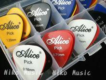 30pcs Acoustic Electric Guitar Picks Plectrums + 1 Plastic Picks Box Case Free Shipping(China (Mainland))