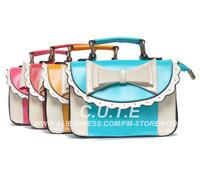 Free Shipping 5 Pcs Baby Bags Girls Fashion Accessories Kids Blue Handbags Children PU Bags Spring Red Bags130116008-BB