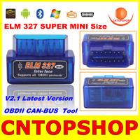 2013 Newly OBDII Wireless Super Mini ELM327 ELM 327 Bluetooth V2.1 For Multi-Brands OBDII CAN-BUS ELM 327 CNP Free