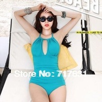 Sexy fashion Swimwear triangle one piece noble goddess swimsuit  Female slim hot spring bathing suit