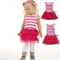 roupa infantil girls tutu dress striped sleeveless christmas pajamas baby girl princesa sofia chandal mesh pleated  dresses