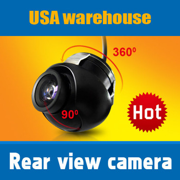 Promotion Car CCD Backup Camera Rear view-Mirror 360 Angle Rotation Hole hide installation Waterproof Night vision USA warehouse