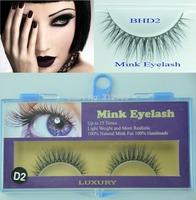 5 Pairs Freeshipping MINK FUR Eye Lash extension, Artificial Fake False eyelashes BHD2 Wholesale