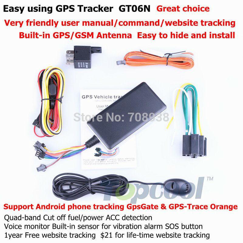 Car GPS Tracker Original GT06 PK fake H06 Quad band Cut off fuel GPS mobile tracker Car Alarm system Web&Android GPS tracking(China (Mainland))