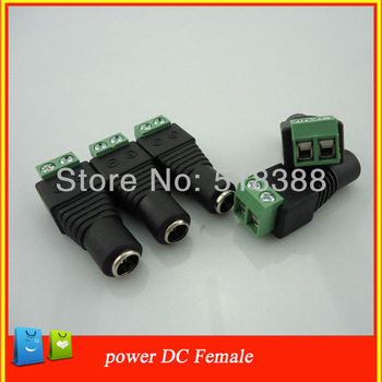 10pcs 2.1x5.5mm BNC connector female DC Power Jack Connector Adapter Plug for CCTV Camera Security video surveillance system