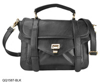 2013 NEW ARRIVAL PROMOTION  Women Handbags Fashion PU Leather Bag QQ1587 Black,White Free shipping