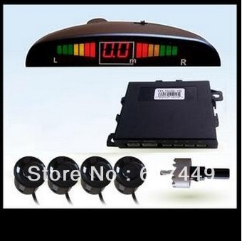 LED display car Parking sensor System 4 sensors Car Reverse Backup Rada Sensors With switch 660