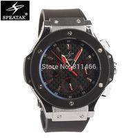 fashion DIY watch SPEATAK Brand Men's watch stainless steel quartz watch silicone strap Military Watches Date/Week Display-9010