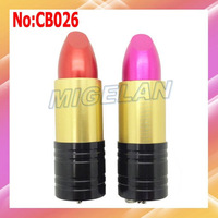 Free shipping wholesale Lipstick usb flash drive 1GB 2GB 4GB 8GB 16GB 32GB 64GB  Metal usb flash memory #CB026