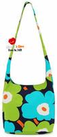 FREE SHIPPING fashion flowers shopping bag green floral bag candy color washable canvas shoulder bag sakura messenger bag