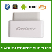 2013 top 100% original Launch iCard OBDII/EOBD code reader diagnostic tool bluetooth with Android OS free shipping