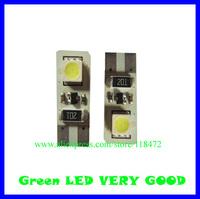 100pcs/lot led car bulb canbus led light  can-T10-2SMD-5050 12v DC   free shippment