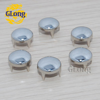 1000pcs Silver 10mm Round Studs Punk DIY Rivets for Clothing Shoes Bags Accessories Spikes Free Shipping #GZ001-10S