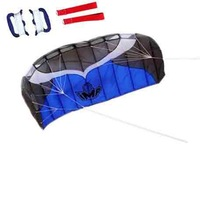 Christmas gift nylon 2 meter dual line eagle parafoil kite power soft in red blue colors, Free Shipping