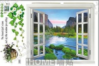 Free shipping  I home  The third generation wall stickers window sofa tv background wall decoration stickers