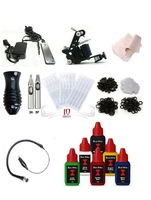 New & Pro Tattoo Machine Equipment Set Starter Kit 1 Guns Supply Body Art