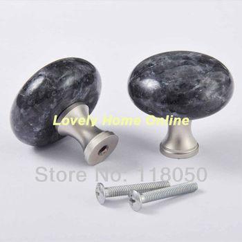 40mm Blue Pearl Granite Brass Base Cabinet Knob Drawer Knobs Dresser Handles for Luxury and Boutique Furniture,Hot Sale Hardware