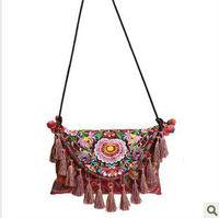 National trend female bags embroidery bag handmade tassel summer messenger bag fashion small bag curtain