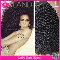 Luffy hair : Guaranteend Quality AAAAA Grade Unprocessed Virgin Mongolian Kinky Curly Hair Weave 100% Human Hair Extensions
