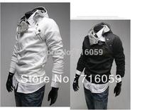 FREE SHIPPING Autumn new fashion turtleneck men's jacket men's hoodies cotton outwear&coat PROMOTIONS