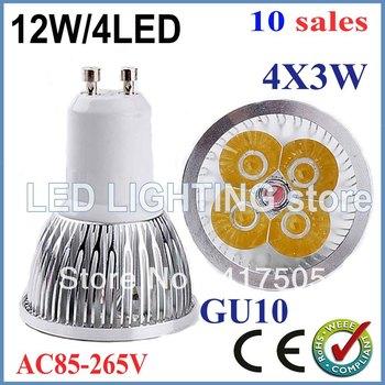 FREE SHIPPING 10pcs/lot Dimmable GU10 E27 MR16 9W 12W 15W High power LED Bulb Spotlight Downlight Lamp LED Lighting