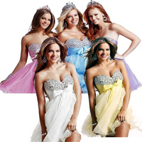 In-Stock Free Shipping 2013 New Ladies' Fashion Elegant Sweetheart  Mini/Short Cocktail Party Dress Formal  Prom Gown
