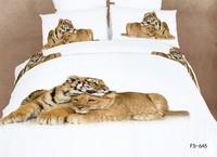 100%cotton home textile Tiger Leopard 3d bedding sets queen size 4pcs Animal comforter/duvet cover bed sheet bedclothes set