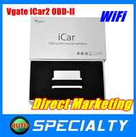 Lowest Price 100% Original Wifi Vgate iCar 2 OBDII ELM327 iCar2 wifi vgate OBD Auto Diagnostic Interface For Both IOS Android