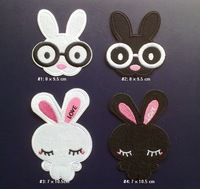 lron on patches rabbit Embroidered patches DIY accessories,Wholesale 100pcs/lot, Free shipping