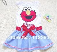 2014 New fashion Children girl summer Dress Cartoon design size 3T 4T 5T 6T Original brand  Free Shipping