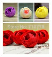 100pcs  3.5CM 10colors available Artificial Simulation Silk Camellia tea rose Flower Headware Wedding Diy Jewelry