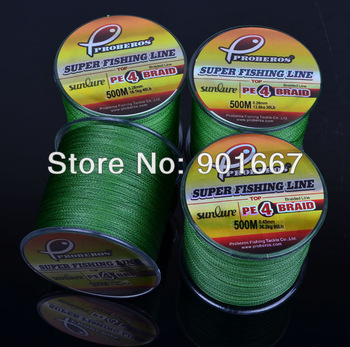 2pc 500M braided fishing line Army Green Colors Dyneema Fishing Line available 28LB-100LB PE line fishing tackle Free Shipping