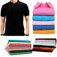 men's short shirt  neck style laco8 te -shirt leisure cotton,Croc animal logo spring summer wear shirts 16pcs/lot