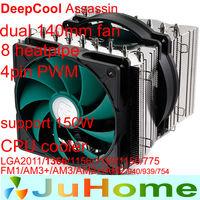dual fan 140mm fan 8 heatpipe dual-tower 4pin PWM LGA2011/1366/1156/1155/775 FM1/AM3+/AM2+ cpu radiator CPU cooler fan Assassin