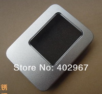 Free Shipping 8.5*5.5*1.7cm open window Metal Storage Boxes with sponge, Jewelry Packaging Display case 50pcs/lot