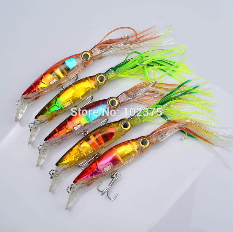 New Arrival Big Game Fishing lures 14cm/40g 5 Color available Squid lures fishing Squid lures Free Shipping(China (Mainland))