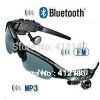 Free Shipping Magic Bluetooth MP3 Headset Sunglasses for Mobile Cell phone MP3 Earphone Headphone Sun Glasses