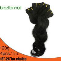 """100% Human Hair,Brazilian body wave Hair, Beautiful princess Long hair ,4pcs/lot,size16-24"""",Free shipping"""