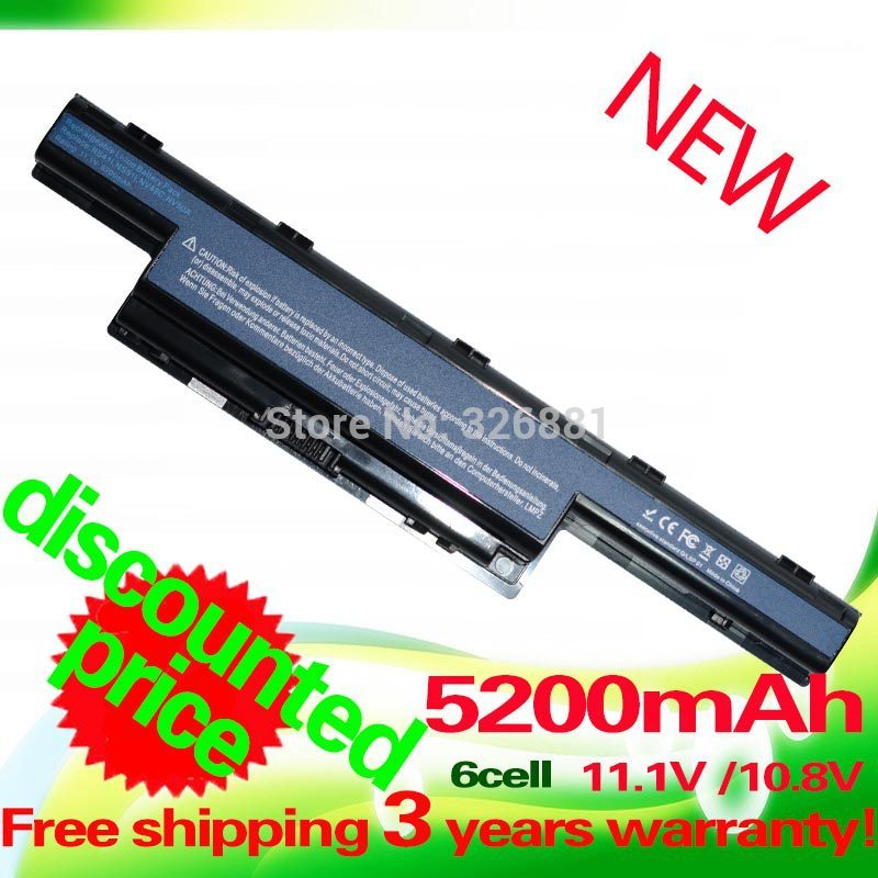 5200mAh Battery for Acer Aspire V3 5741 5742 5750 5551G 5560G 5741G 5742G 5750G AS10D31 AS10D51 AS10D61 AS10D71 AS10D75 AS10D81