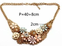2013 New Arrival Unique Design to restore ancient ways floret necklace vintage statement necklace gold plated chain jewelry