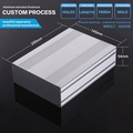 145x54x80 mm (WxHxL) Aluminum Extrusion Enclosure With Front And Rear Panels