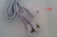 10pcs/lot DC 2.5mm 2 IN 1 head electrode wires/cable /lead for EMS massager,TENS machine,Pulse massager,slimming massager