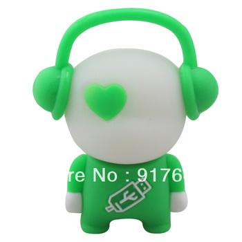 Colorfu lSilicone Music USB flash drives Fashion personality 4/8/16/32G ! Free shiping