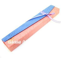 Free shipping, blue and pink Bicolor oblong necklace jewelry box , 22*4cm paper capacitor gift boxes.