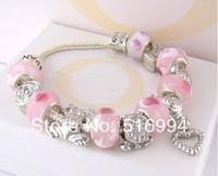B4 / 925 fashion Charm Chamilia bracelets sterling silver charm bracelet for woman silver chamilia beads bracelets Free shipping