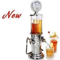 FREE SHIPPING bar butler metal double gun wine dispenser mini soda beverage pourer beer pump machine bar tools