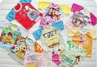 Free Shipping\2014 children's t-shirt cartoon clothing short sleeve  sport t-shirts Minnie Mouse t shirts wholesale 10pcs/lot